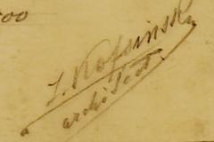 Semnătura arh. Z. Kofsinsky