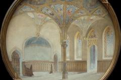 Sala Voievozilor - extindere Caru cu bere - acuarelă de arh. C.B. Cretzoiu - 1916
