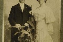 Fotografie de la căsătoria lui Nicolae MIRCEA cu Maria POPESCU - (1905)