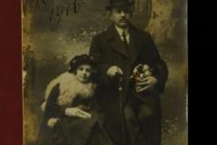 Nicolae MIRCEA și fiica sa Livia, în refugiu la Odessa - (1916)