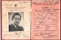 Cartea de meșter a lui Radu Titus MIRCEA - (1933-1942)
