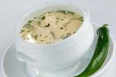 "Traditional ""Radauteana"" soup from the Bucovina region"