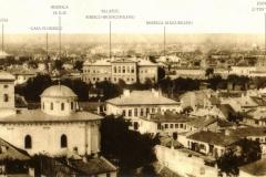 Vedere din turnul clopotniței Mitropoliei - București, 1856 (foto Ludwig Angerer)