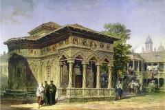 Biserica Stavropoleos - București, 1868 (desen de Lancelot)