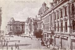Piața Poștei cu palatul CEC și Hotel de France - București, 1905