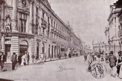 Palatul Dacia și Banca Națională pe str. Lipscani - București, 1901
