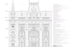 Reabilitare fațada Caru cu bere - sumar elemente, proiectant: studio CASA VOC - 2013