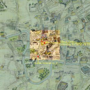 Plan București, culoarea de Roșu - 1871