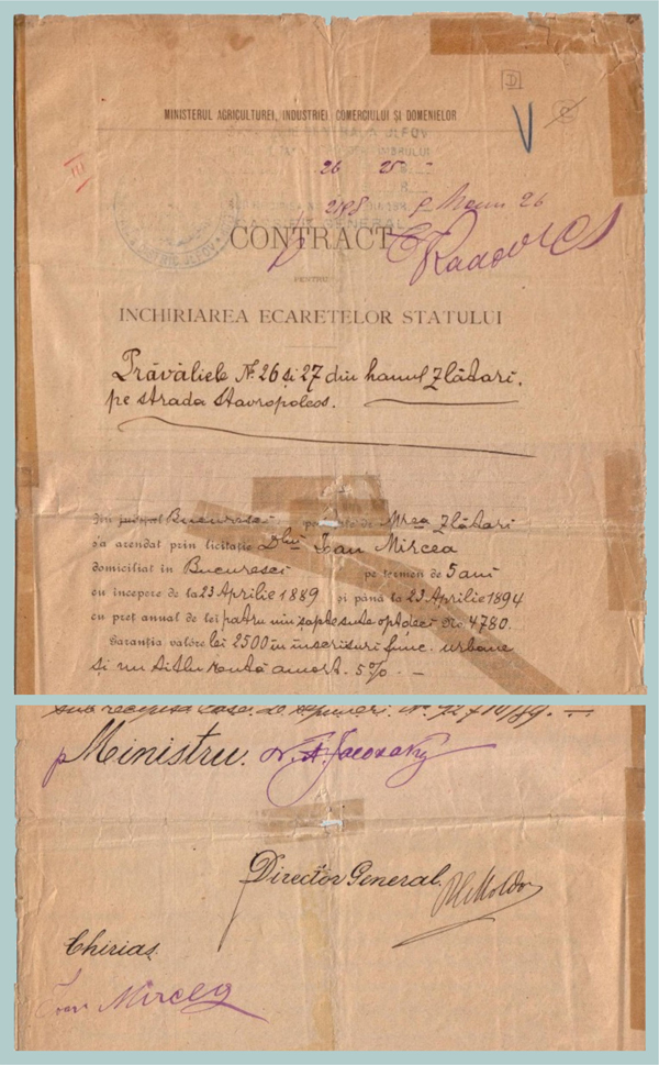 Contract Ion Mircea - 1889