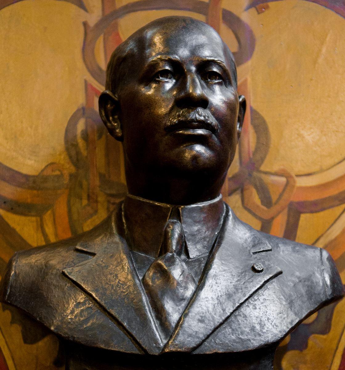 The bust of Nicolae Mircea