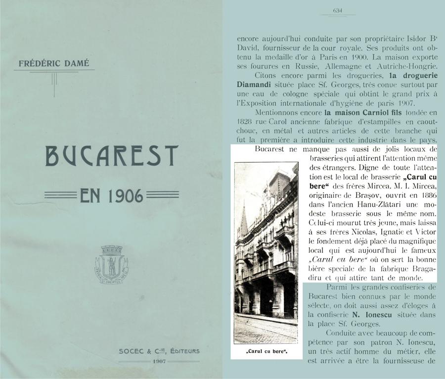 Bucarest en 1906 - de Frédéric Damé