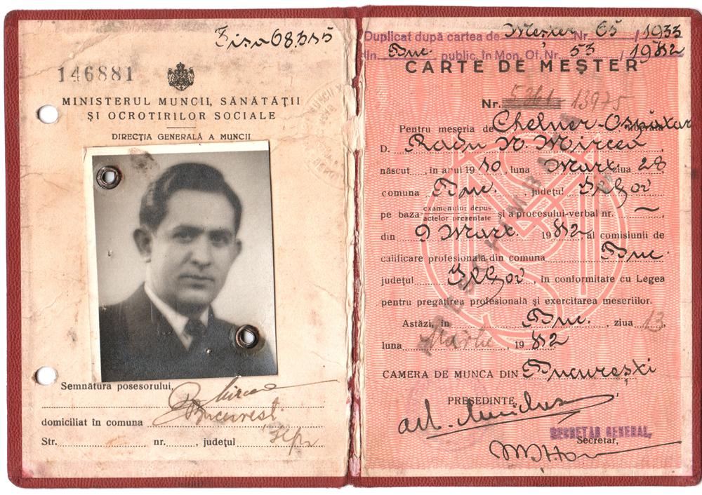 Carte de mester, Radu MIRCEA - 1933-1942